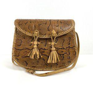 Vintage Snakeskin & Leather Handbag